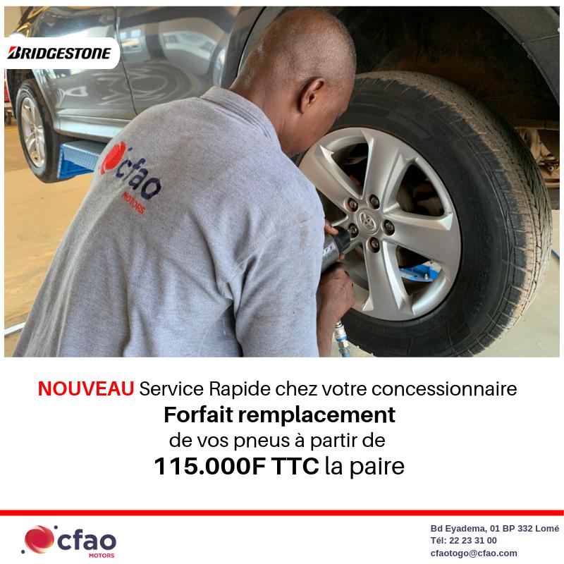 Forfait remplacement des pneus